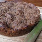 Rhubarb swirl coffee cake